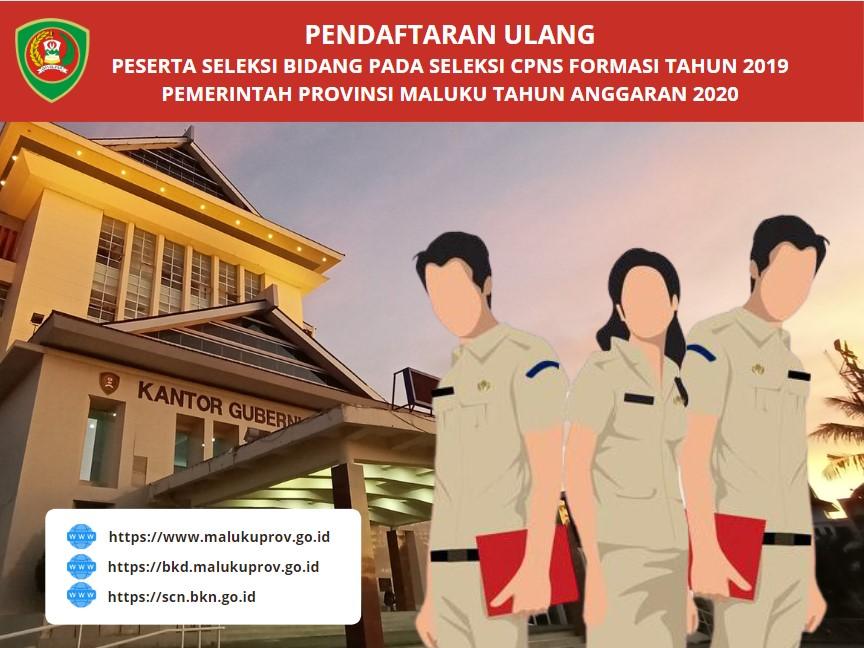 Pendaftaran Ulang SKB CPNS Provinsi Maluku 2019